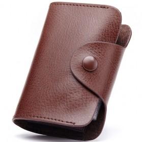 Dulin Dompet Kartu Elegan Bahan Kulit - CL-3324 - Brown