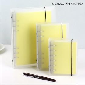 Buku Catatan Binder Transparan Size A6 - Transparent