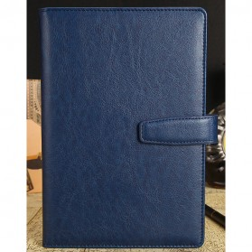 Buku Catatan Kerja Cover Kulit - Blue
