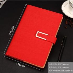 Buku Catatan Kerja Cover Kulit Kertas A5 - Red