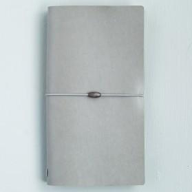 Buku Catatan Simple Cover Kulit - Gray