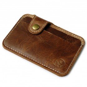 Dompet Kartu Luxury Bahan Kulit - Brown