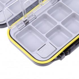 Lixada Box Kotak Perkakas Kail Pancing 12 Ruang - MCC01 - Black - 5