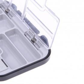 Lixada Box Kotak Perkakas Kail Pancing 12 Ruang - MCC01 - Black - 6