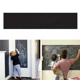 H&F Stiker Dinding Papan Tulis Kapur Flexible 200 x 45 cm - 513 - Black - 2