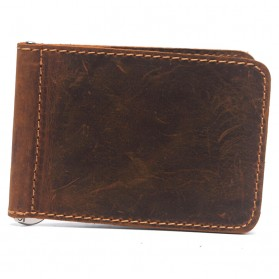 Dompet Kartu dengan Klip Uang Kertas - Brown