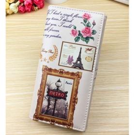 Dompet Panjang Clutch Wanita Pattern Stamp Tower