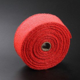 GEONYIEEK Exhaust Wrap Lakban Peredam Panas Knalpot - MP-001 - Red