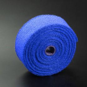 Exhaust Wrap Lakban Peredam Panas Knalpot - MP-001 - Blue