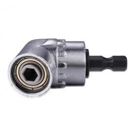 Extension Mata Bor L Angle 1/4inch Hex Bit Socket - 105 - Silver