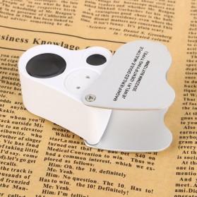 Kaca Pembesar Saku 30x 60x Magnifier Dual Lens - White - 5