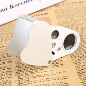 Kaca Pembesar Saku 30x 60x Magnifier Dual Lens - White - 6
