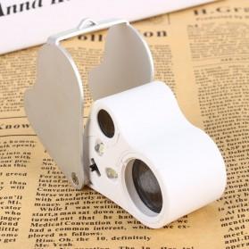 Kaca Pembesar Saku 30x 60x Magnifier Dual Lens - White - 7