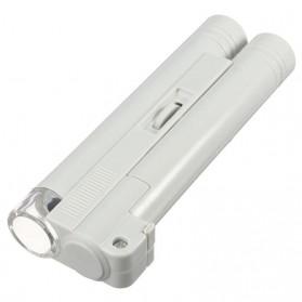 Mikroskop Genggam Multifungsi 100x Pembesaran - WYSX-100X - Silver - 1