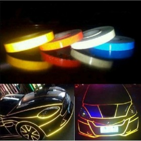 Car Styling Reflective Stiker Mobil 1cm 5 Meter - Yellow