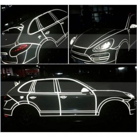 Car Styling Reflective Stiker Mobil 1cm 5 Meter - Blue - 2