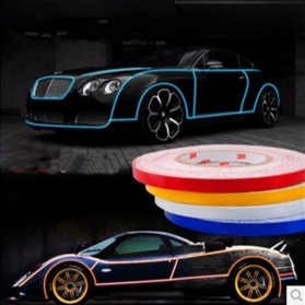 Car Styling Reflective Stiker Mobil 1cm 5 Meter - Blue - 7
