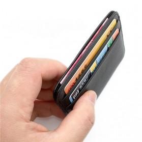 Dompet Kartu Bahan Kulit Mini Wallet - Black