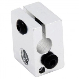 Heat Block for V5 V6 J-Head Extruder Hot End 3D Printer Parts - B0020 - Silver - 1