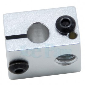 Heat Block for V5 V6 J-Head Extruder Hot End 3D Printer Parts - B0020 - Silver - 2