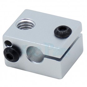 Heat Block for V5 V6 J-Head Extruder Hot End 3D Printer Parts - B0020 - Silver - 4