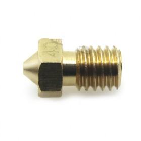 Brass Nozzle Extruder for J-Head 3D Printer V6 V5 1.75mm 0.4mm - Golden - 3