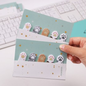 Stiker Sticky Notes Cute Cat Paw - Mix Color