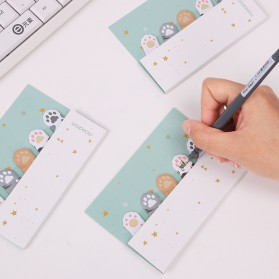 Stiker Sticky Notes Cute Cat Paw - Mix Color - 2