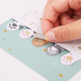 Stiker Sticky Notes Cute Cat Paw - Mix Color - 3