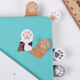 Stiker Sticky Notes Cute Cat Paw - Mix Color - 4