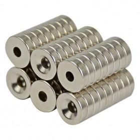 Powerful Ring Hole Neodymium Magnet N50 10 x 3mm 50PCS - Silver