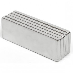 Powerful Cuboid Neodymium Magnet N35 30 x 10mm 10 PCS - MG10 - Silver
