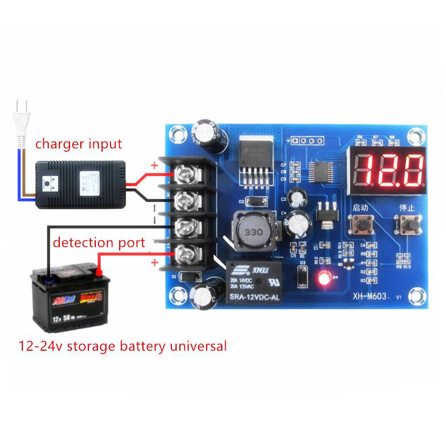 Charge Control Module Storage Lithium Battery Protection Board 12 Merakit Dot Com Transmitters 24v Xh M603