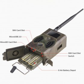 Kamera Hunting Trial Traps Camera Motion Trigger 12MP 1080P Night Vision - HC300M - Camouflage - 3