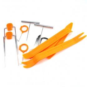 Alloet Multifunction 12 in 1 Opening Removal Pry Tools Kit untuk Mobil - HF-007 - Orange