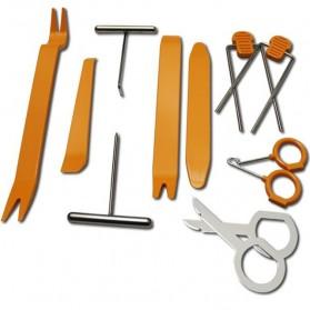 Alloet Multifunction 12 in 1 Opening Removal Pry Tools Kit untuk Mobil - HF-007 - Orange - 2