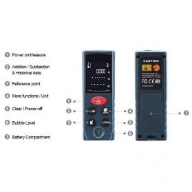 SNDWAY Pengukur Jarak Laser Distance Meter 60M - KXL-D60 - Black - 3