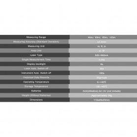 SNDWAY Pengukur Jarak Laser Distance Meter 80M - KXL-D80 - Black - 5