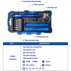 Obeng 17 in 1 Screwdriver Pry Opener Set for Smartphone - Blue - 5