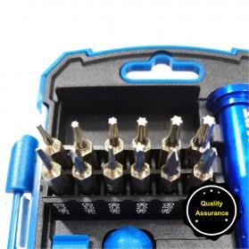 Obeng 17 in 1 Screwdriver Pry Opener Set for Smartphone - Blue - 7