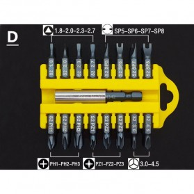 Kepala Obeng 17 in 1 Magnetic Screwdrivers Repair Tool Kit - Model D - 1