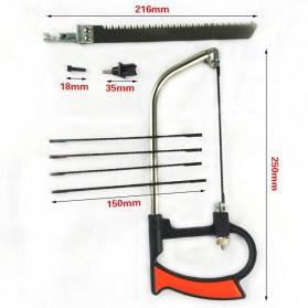 Gergaji Tangan Multifungsi Set Pemotong Kayu Besi Handsaw - 3