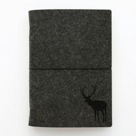 Buku Tulis - Buku Agenda Flannel Binder Ukuran A5 - Black