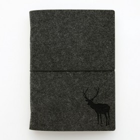 Buku Agenda Flannel Binder Ukuran A5 - Black