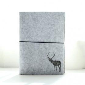 Buku Tulis - Buku Agenda Flannel Binder Ukuran A5 - Light Gray