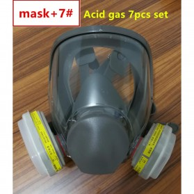 3M Masker Gas Acid Full Face - 6800 no.7