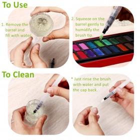 Bingyi Kuas Lukis Cat Air Water Brush Refillable 6 PCS - WP-06 - White - 4