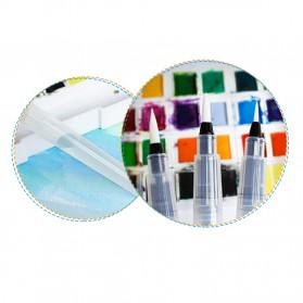 Bingyi Kuas Lukis Cat Air Water Brush Refillable 6 PCS - WP-06 - White - 9