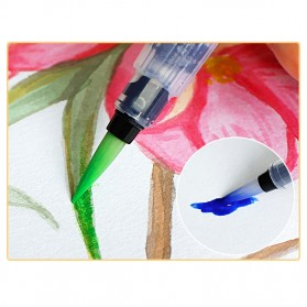 Bingyi Kuas Lukis Cat Air Water Brush Refillable 6 PCS - WP-06 - White - 10