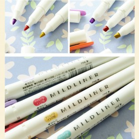 Japanese Pena Stabilo Marker Liner Doube Tips 5 PCS - Multi-Color - 7